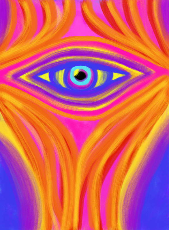 Awakening Print featuring the painting Awakening The Desert Eye by Daina White