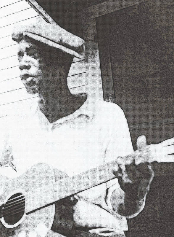 Guitar Print featuring the photograph Bill Tatnall 1935 by Daniel Hagerman