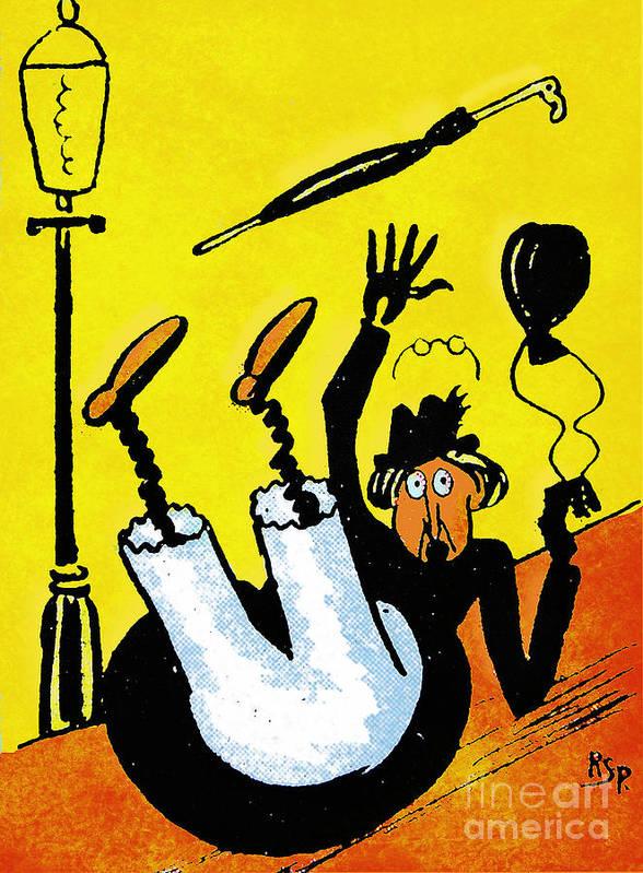 Artist Print featuring the painting Cartoon 07 by Svetlana Sewell