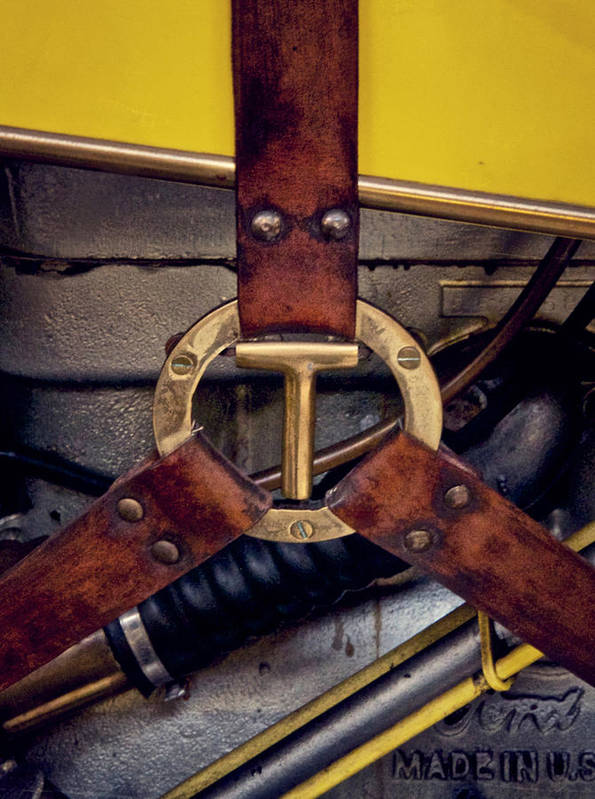 Ford Model T Print featuring the photograph Ford T Hood Strap by Odd Jeppesen
