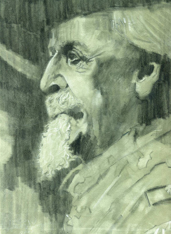 General Lee Print featuring the drawing General Lee by Luis Navarro