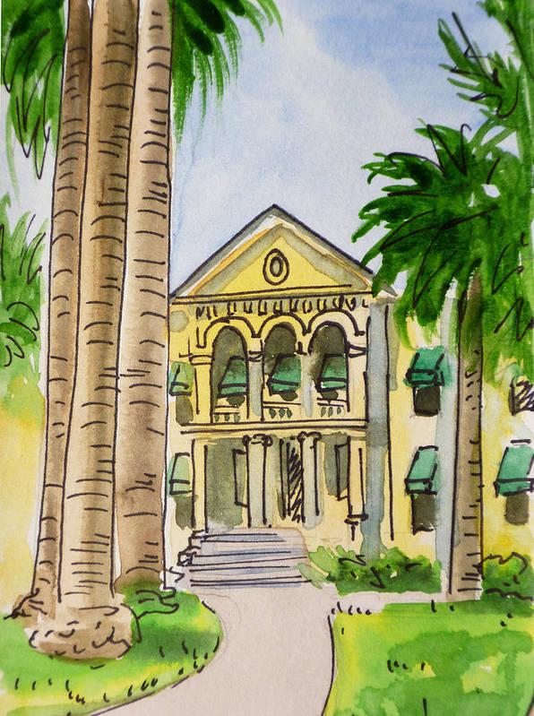 Sketchbook Print featuring the painting Hanford - California Sketchbook Project by Irina Sztukowski