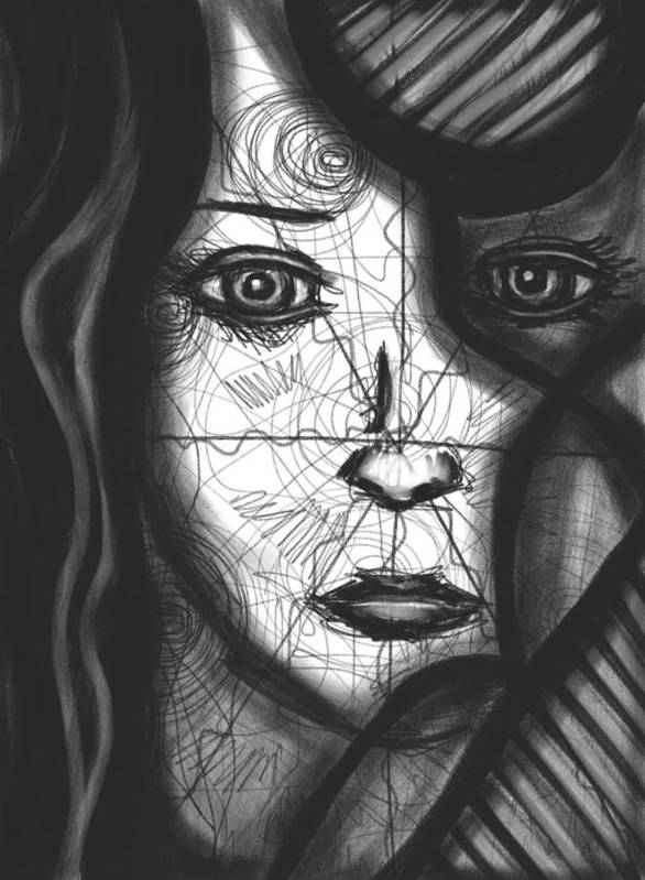 Spiral Print featuring the drawing Illumination Of Self by Daina White