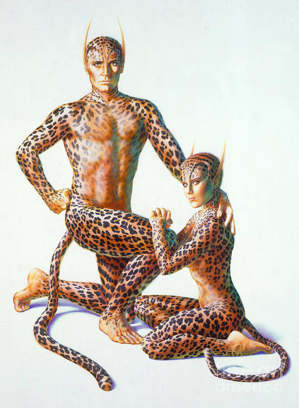 80's Print featuring the photograph Leopard People by Andrew Farley