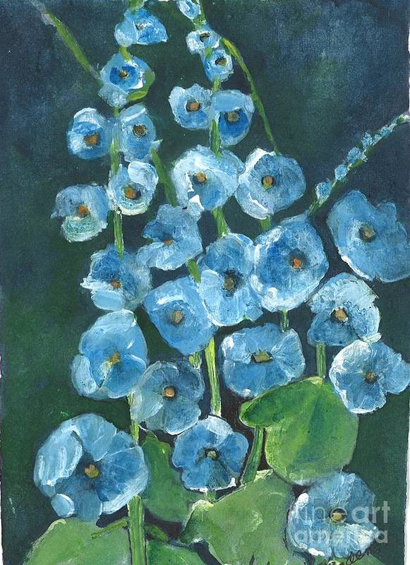 Orchards Print featuring the painting Morning Glory Greetings by Sherry Harradence
