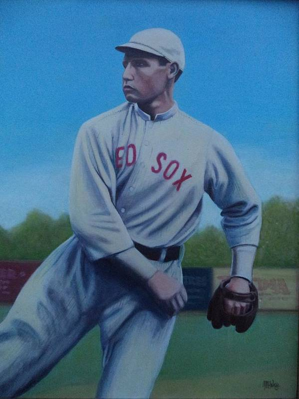 Red Sox Print featuring the painting Smokey Joe Wood by Mark Haley