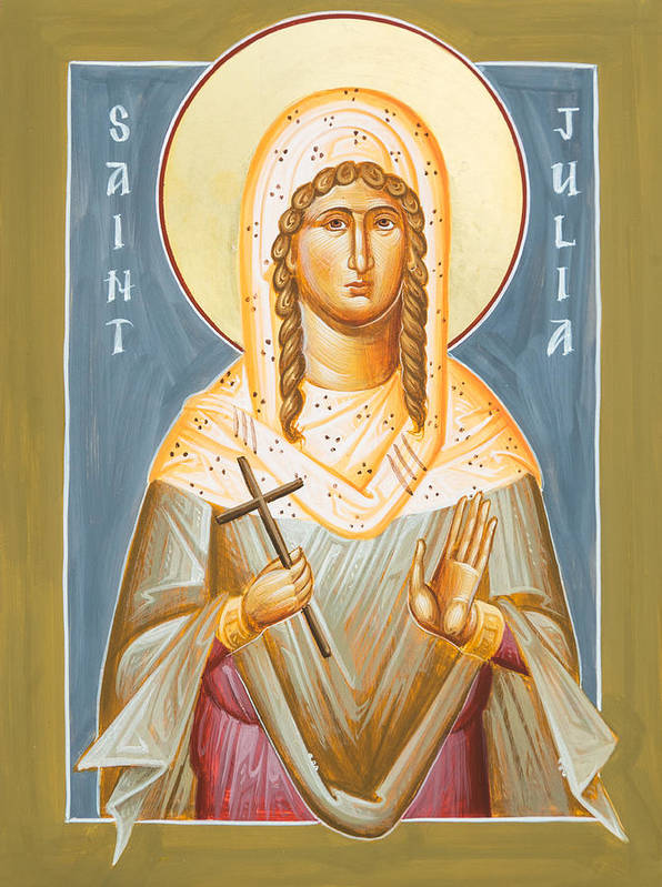 St Julia Icon Print featuring the painting St Julia Of Carthage by Julia Bridget Hayes