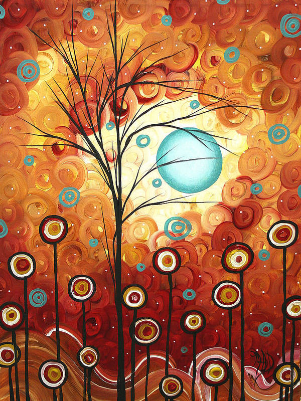 Abstract Print featuring the painting Surrounded By Love By Madart by Megan Duncanson