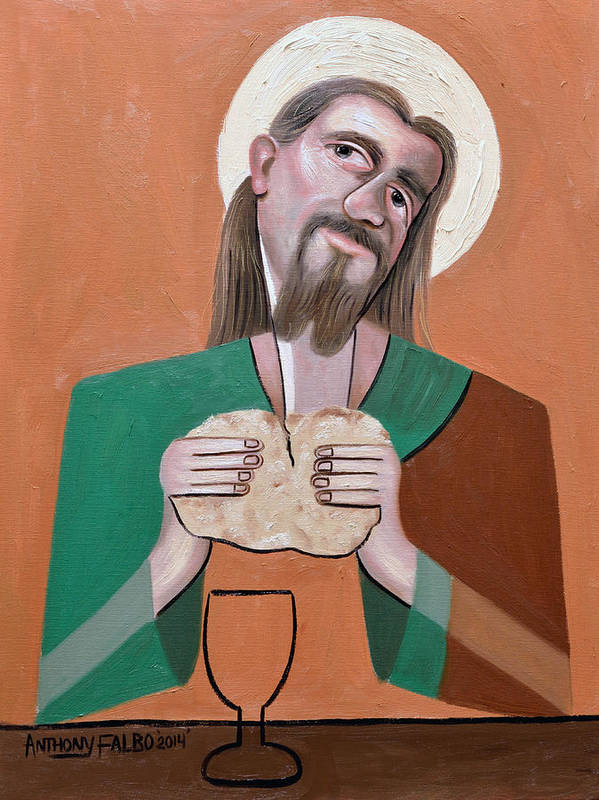 The Bread Of Life Print featuring the painting The Bread Of Life by Anthony Falbo