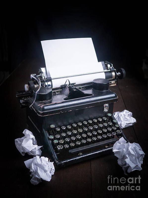 Typewriter Print featuring the photograph Vintage Manual Typewriter by Edward Fielding