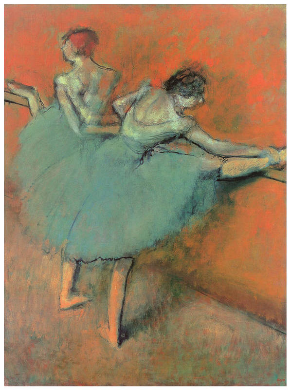 Dancers At The Bar Print featuring the painting Dancers At The Bar by Edgar Degas