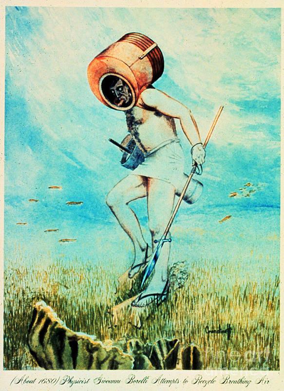 Giovanni Borelli Print featuring the photograph Giovanni Borelli Underwater by Science Source