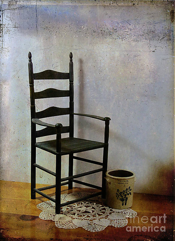 Ladderback Print featuring the photograph Ladderback by Judi Bagwell
