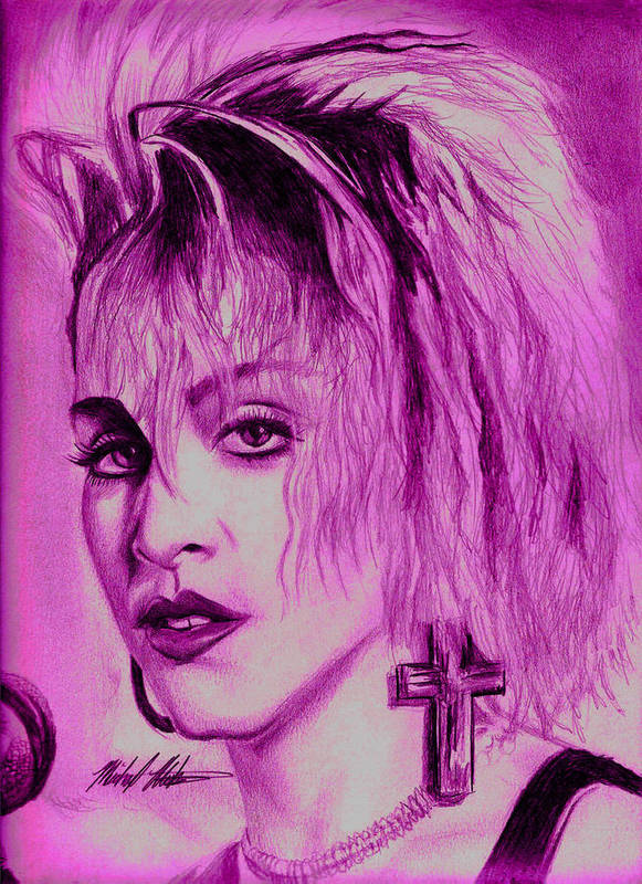 Madonna Print featuring the digital art Madonna by Michael Mestas