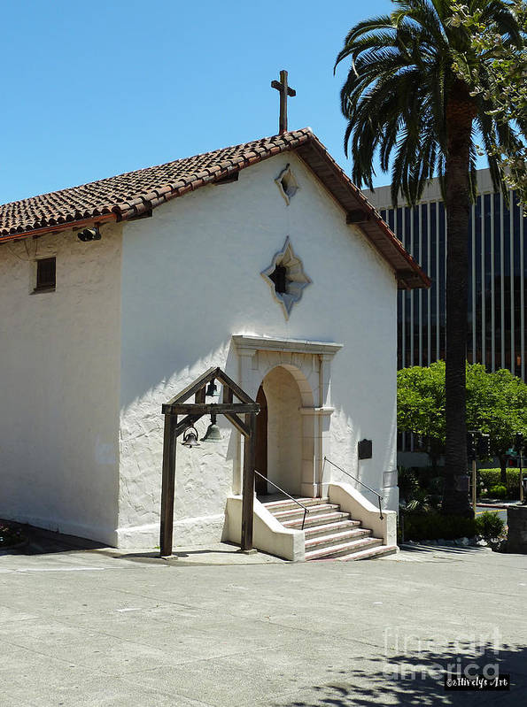 Mission San Rafael Arcangel Chapel Print featuring the photograph Mission San Rafael Arcangel Chapel by Methune Hively