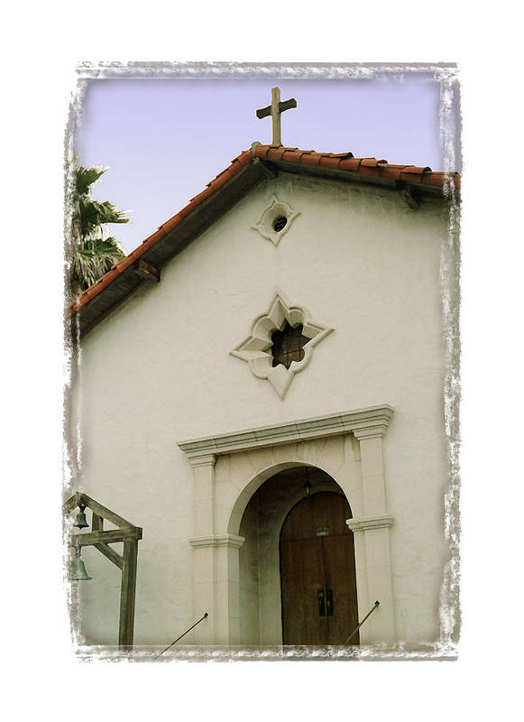 California Missions Print featuring the digital art Mission San Rafael Arcangel - I by Ken Evans