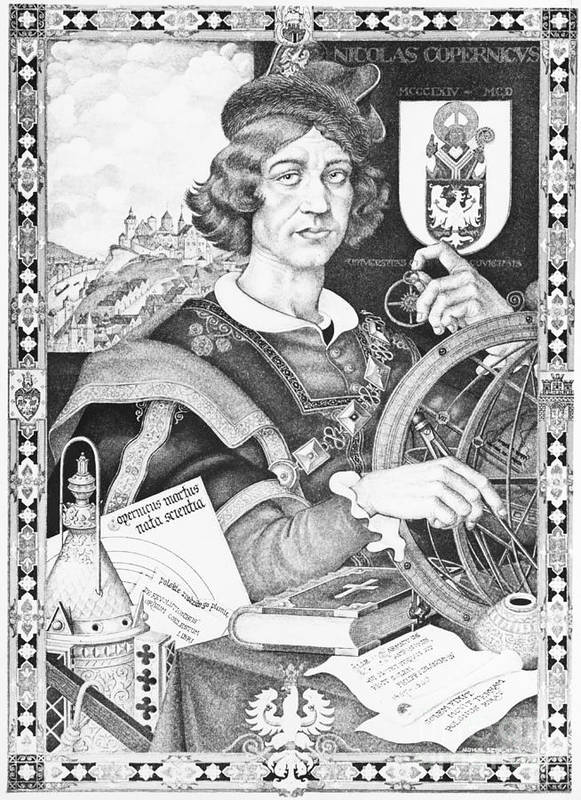 History Print featuring the photograph Nicolaus Copernicus, Polish Astronomer by Omikron