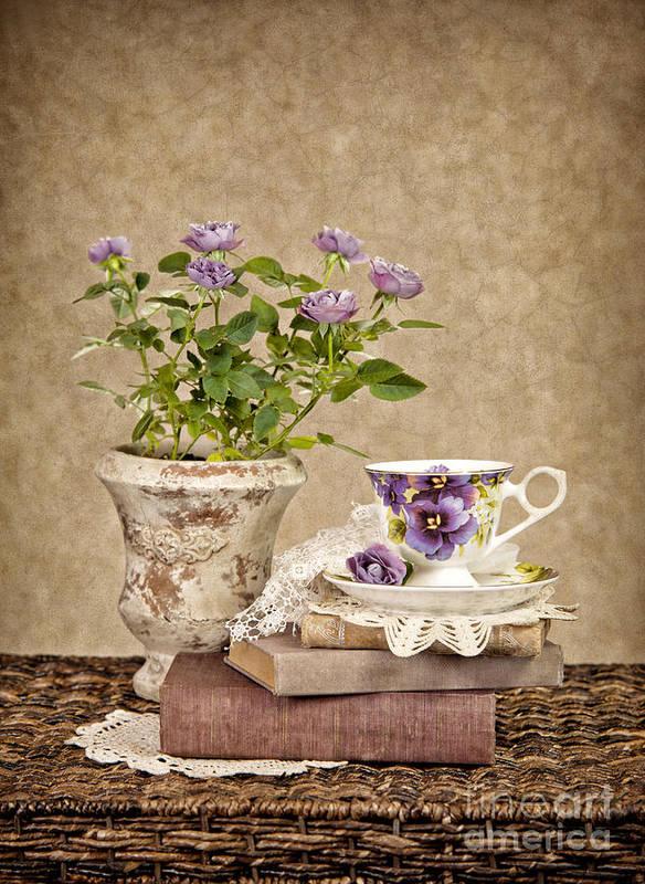 Teacup Print featuring the photograph Simple Pleasures by Cheryl Davis