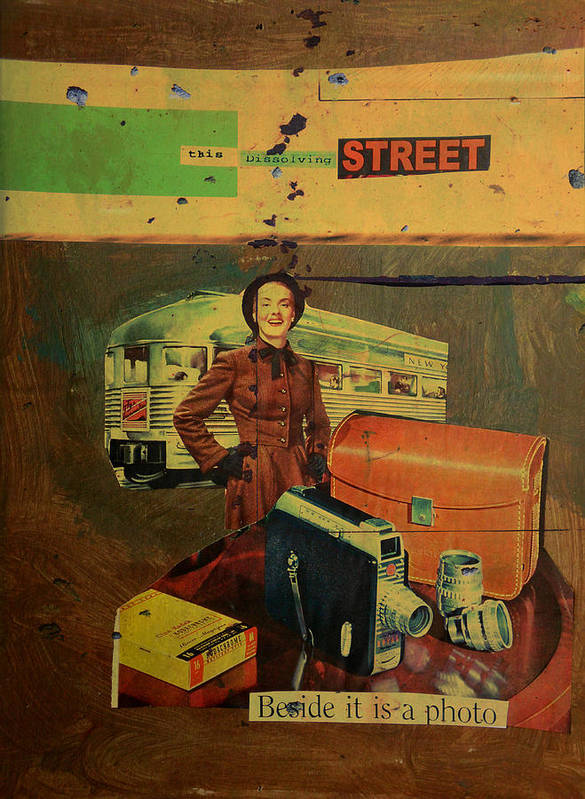 Lady Print featuring the mixed media This Dissolving Street by Adam Kissel