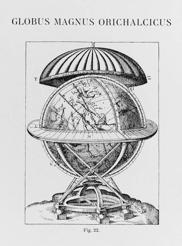 Brahe Print featuring the photograph Tycho's Great Brass Globe by Science, Industry & Business Librarynew York Public Library