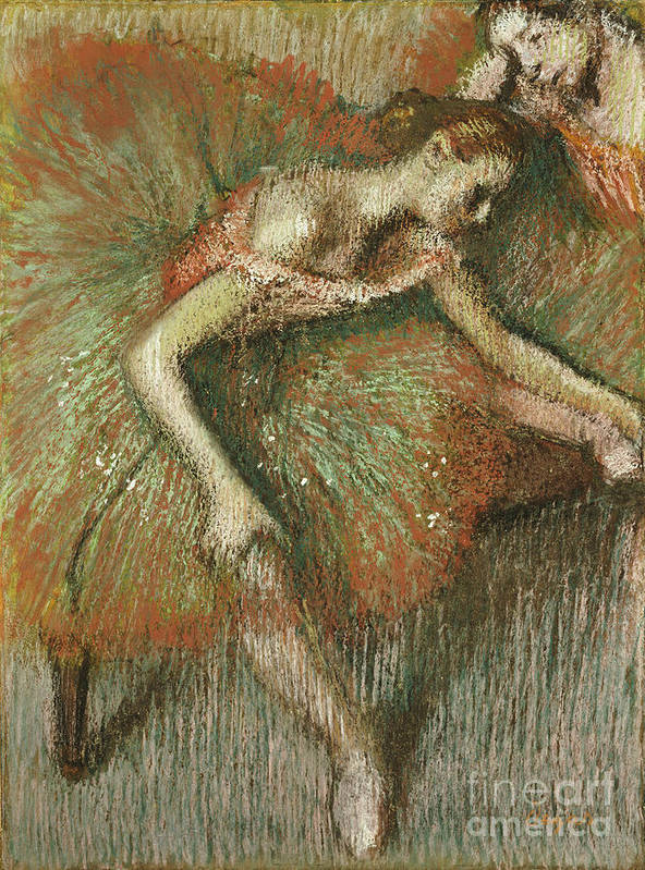 Dancers Print featuring the painting Dancers by Edgar Degas