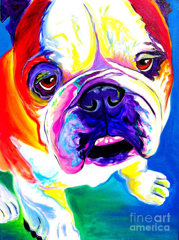 English Print featuring the painting Bulldog - Stanley by Alicia VanNoy Call