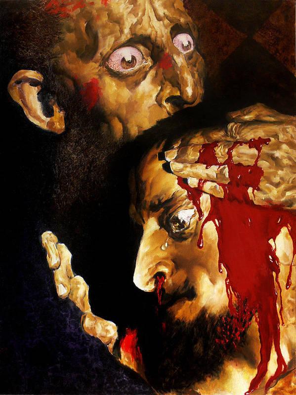 Man Print featuring the painting Ivan D by Valeriy Mavlo