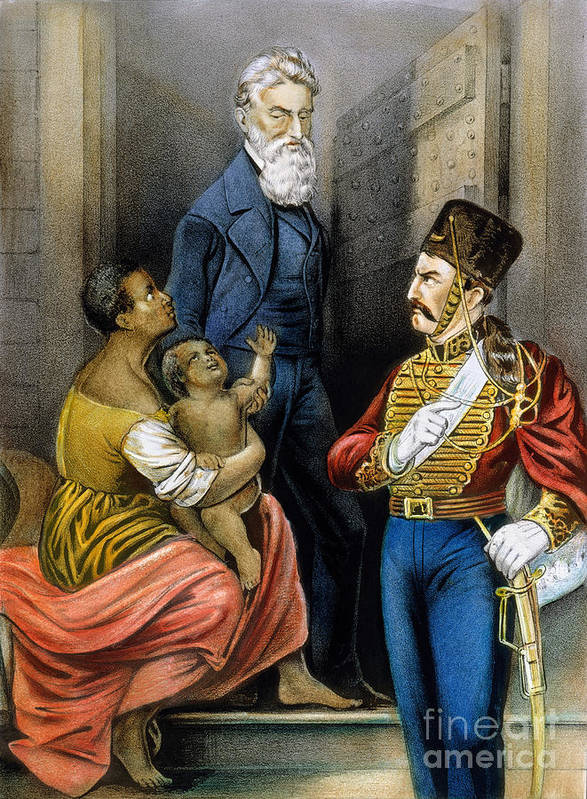 19th Century Print featuring the photograph John Brown (1800-1859) by Granger