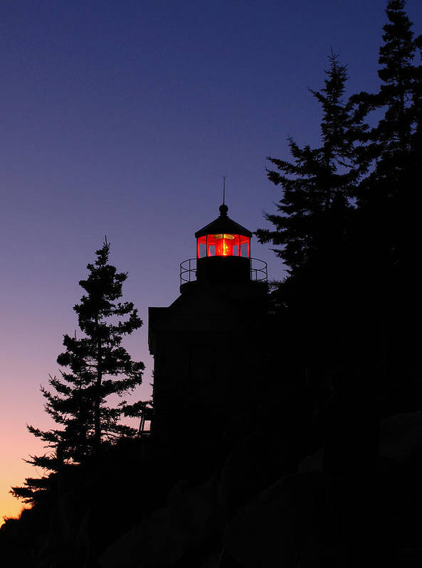 Acadia Lighthouse Print featuring the photograph Maine Lighthouse by Juergen Roth