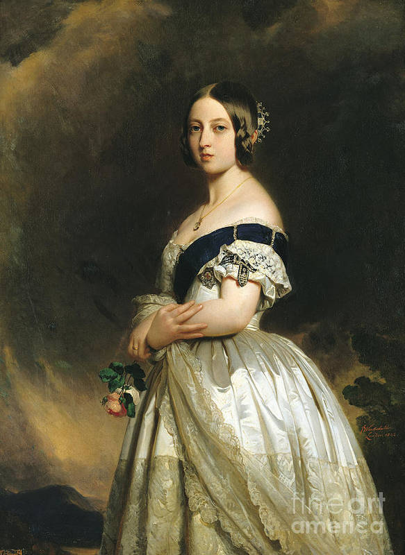 Queen Print featuring the painting Queen Victoria by Franz Xaver Winterhalter