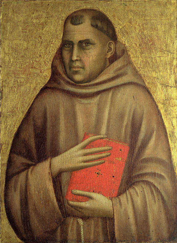 Anthony Print featuring the painting Saint Anthony Abbot by Giotto di Bondone