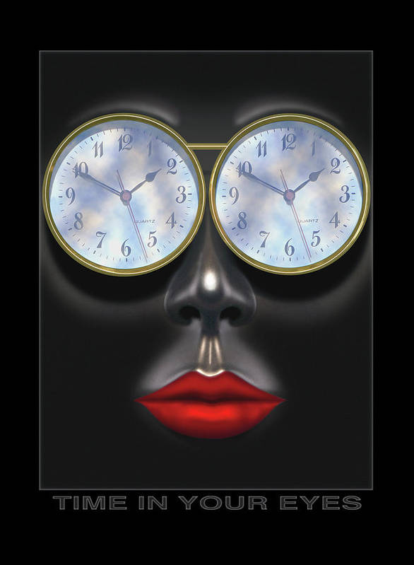 Portrait Print featuring the photograph Time In Your Eyes by Mike McGlothlen