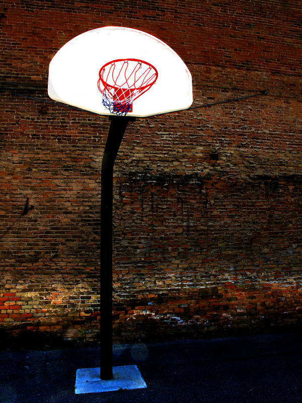 In Print featuring the photograph Basketball by Lane Erickson