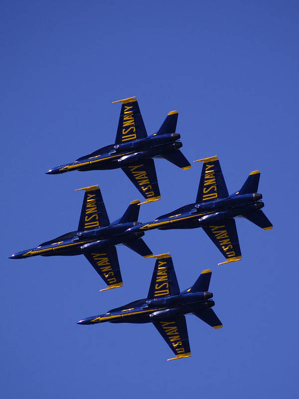 Airshows Print featuring the photograph Blue Angels by Bill Gallagher