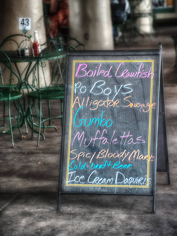 Menu Print featuring the photograph Boiled Crawfish Special by Brenda Bryant