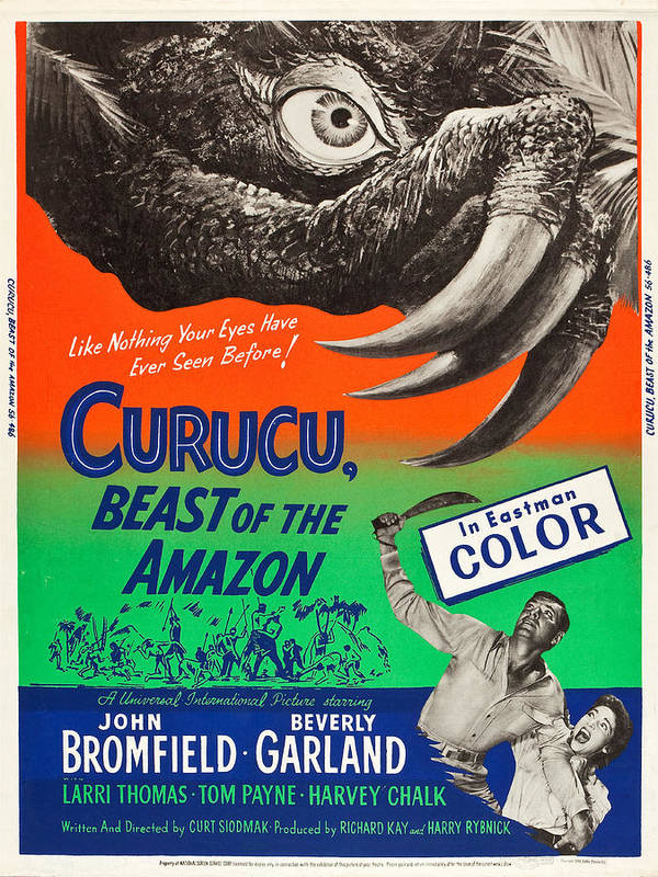 Hollywood Print featuring the drawing Curucu Beast Of The Amazon by MMG Archives