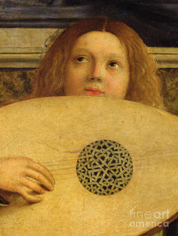 Musical Print featuring the painting Detail Of The San Giobbe Altarpiece by Giovanni Bellini