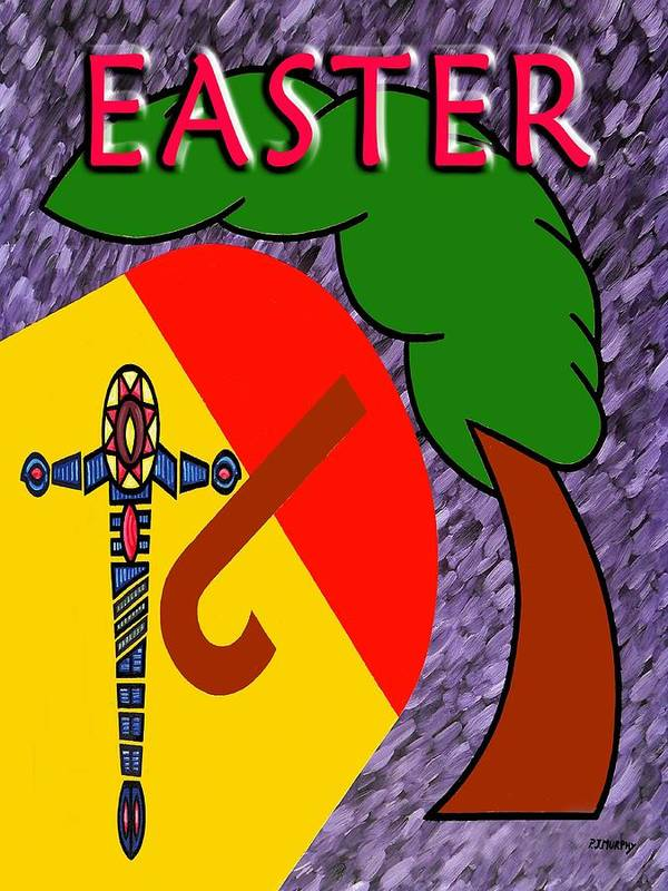 Easter Print featuring the painting Easter 4 by Patrick J Murphy