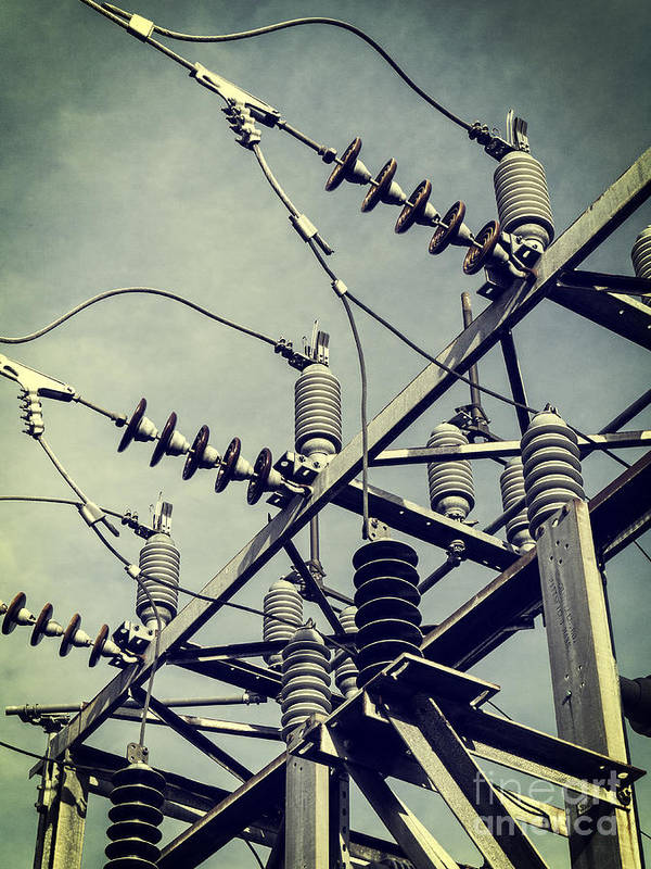 Electric Print featuring the photograph Electricity by Edward Fielding