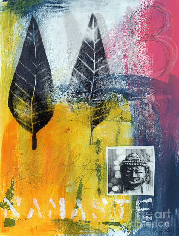 Namaste Print featuring the painting Exhale by Linda Woods