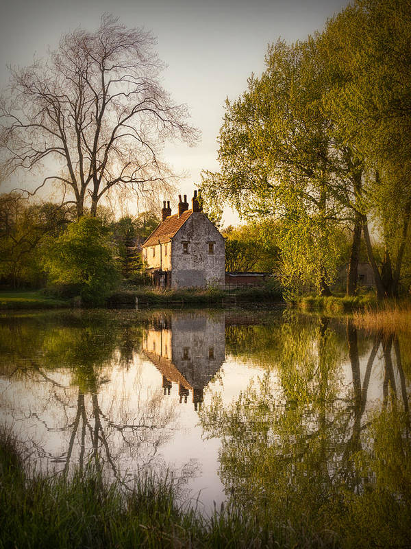 Landscape Print featuring the photograph Game Keepers Cottage Cusworth by Ian Barber