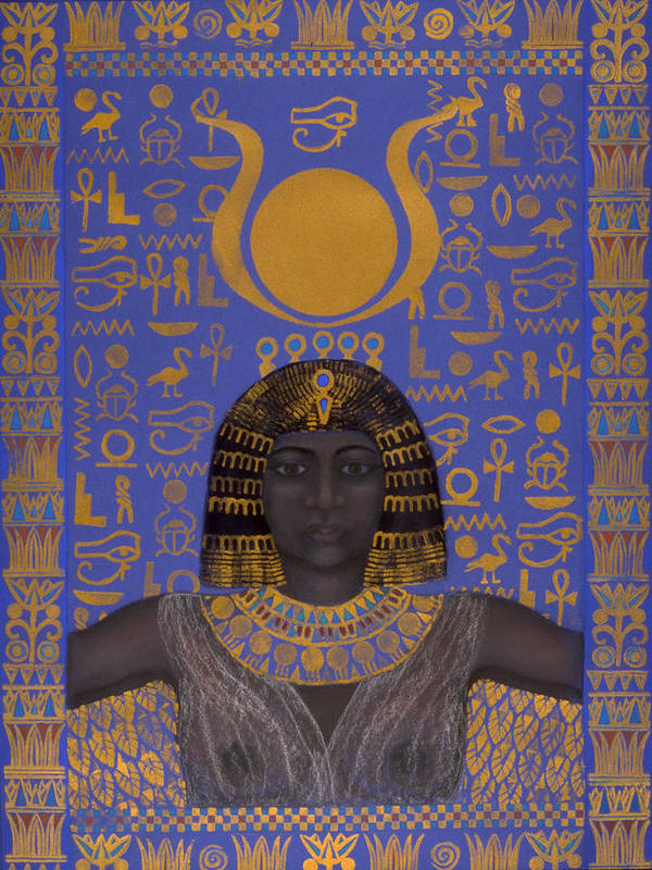 Goddess Print featuring the mixed media Goddess Isis by Diana Perfect