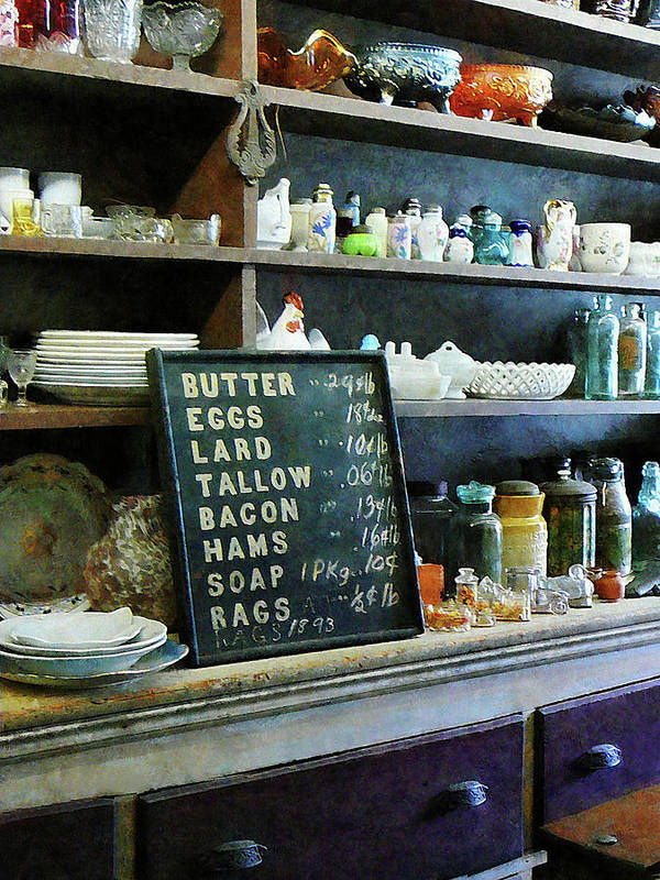 Store Print featuring the photograph Groceries In General Store by Susan Savad