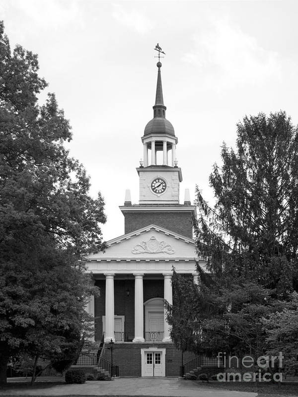 Hanover Print featuring the photograph Hanover College Parker Auditorium by University Icons