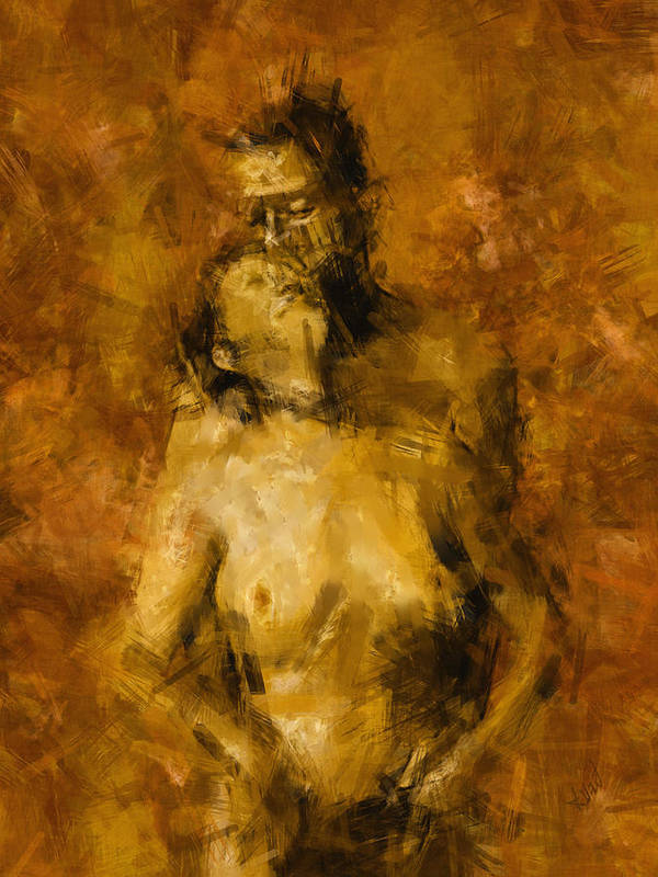 Nude Print featuring the photograph I'm Yours Forever by Kurt Van Wagner