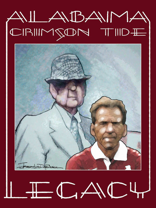 Bear Bryant Print featuring the painting Legacy - Bear by Jerrett Dornbusch