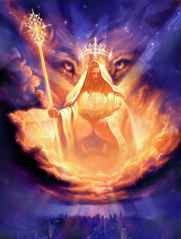 Lion of judah lamb of god poster