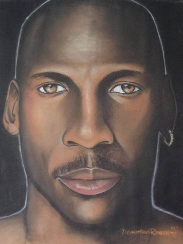 Michael Jordan Print featuring the painting Mj23 by Demitrius Roberts