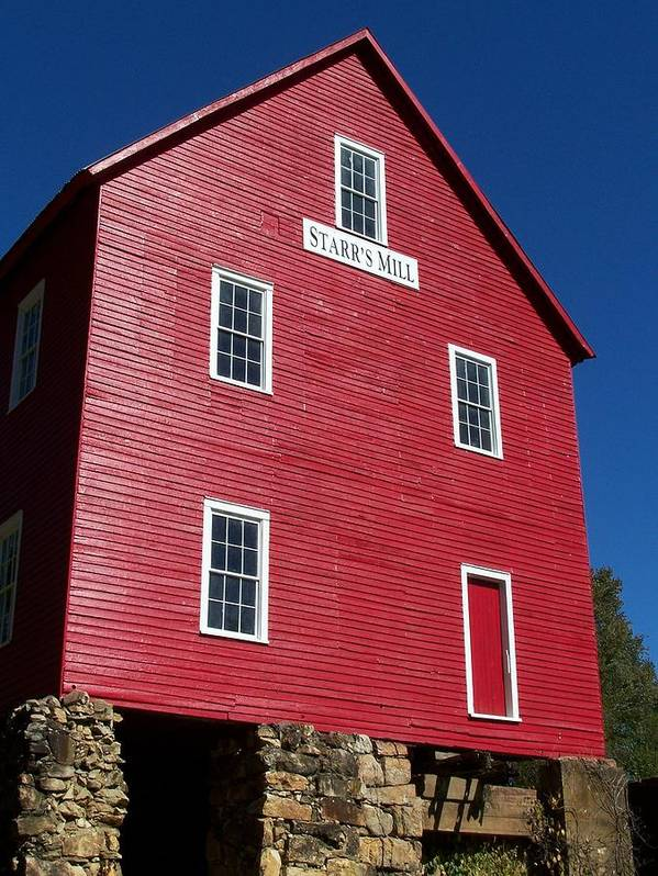Starr's Mill Print featuring the photograph Starr' S Mill 2012 by Jake Hartz