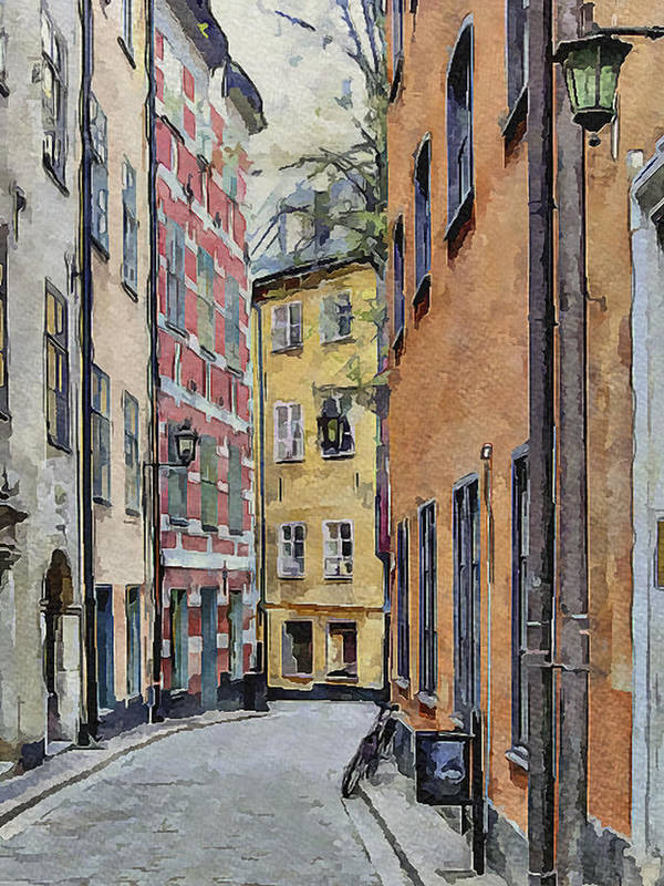 Stockholm Print featuring the digital art Stockholm 15 by Yury Malkov